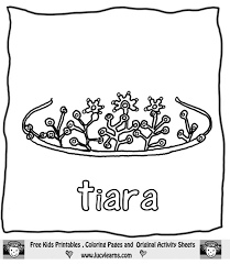 Small Picture princess crown coloring page beautiful tiara in princess crown