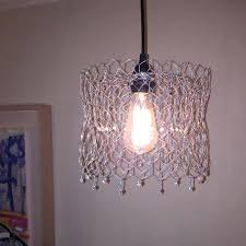 en wire chandelier pendant hanging lamp handmade w and image 0 shades en wire chandelier