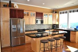 natural maple cabinets with granite countertops image and beautiful kitchen peaceful 9