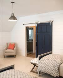 navy barn door in kids room with robert nelson construction rustica hardware chevron barn