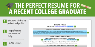 College Graduates Resume Excellent Resume For Recent Grad Business Insider