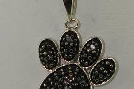 1 6 ctw black diamond paw print pendant necklace federal coin exchange