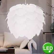 Led 7 Watt Hängeleuchte Stahl Weiß Beleuchtung Pendellampe
