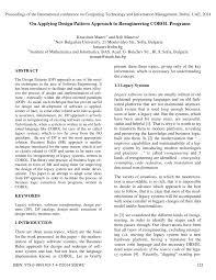 J2ee Design Patterns Applied Pdf Pdf On Applying Design Pattern Approach To Reengineering