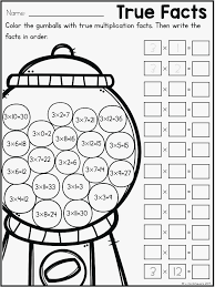 Coloring Pages Multiplication Color By Number Free Multiplication