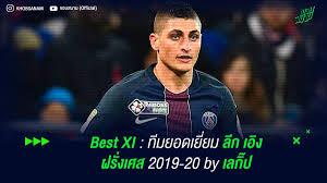Best XI : ทีมยอดเยี่ยม ลีก เอิง ฝรั่งเศส 2019-20 by เลกิ๊ป | ขอบสนาม