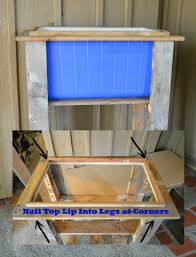 nail top lip into legs at corners with cooler in frame diy wood deck cooler