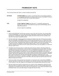 Promissory Note Template Word Pdf By Business In A Box