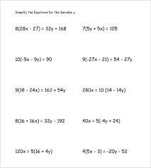 simple algebra worksheets for kids