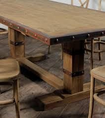 Excellent Image Of Dining Room Decoration Using Distressed Wood - Solid wood dining room tables