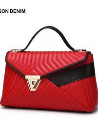 bison denim soft leather women handbag striped female shoulder bags las tote bag cross bags for women messenger bag n1188