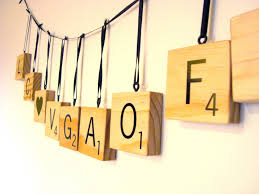 adorable wall decoration using scrabble wall letters hanging scrabble wall letter for ornaments