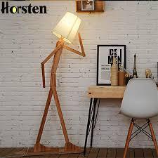 bedroom floor lamps. Japanese Style Creative DIY Wooden Floor Lamps Nordic Wood Fabric Stand Light For Living Room Bedroom P