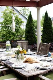 patio table centerpiece ideas design and yard furniture decor stylish porch deck setting four decorating budget