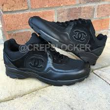 chanel trainers womens. 100% auth new chanel cc runner black leather sneakers trainers shoes racers womens