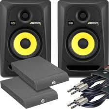 speakers dj. krk rokit rp5 g3 (pair) + ah isolation pads leads bundle speakers dj u