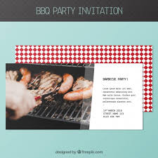 barbecue invitation template free bbq invitation template vector free download