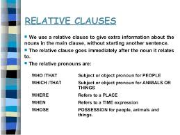 If the verb in the relative clause needs a preposition, we put it at the end of the clause: Relative Clauses