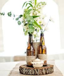 DIY Rustic Wine and Beer Bottle Vase