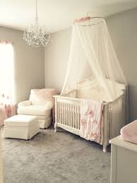 girly pink blush nursery with chandelier ivory rocker and glider regarding for baby room designs 0