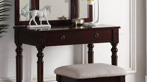 Portfolio Espresso Bedroom Vanity F4158 3 Pc Finish Wood Make Up Set With  ...