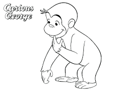 Curious George Coloring Books Coloring Pages Happy Birthday Curious