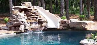 inground pools with waterslides. Fine With Inground Pools With Rock Slides  Green Acres Pool Slide And  Water Feature In Inground Pools With Waterslides P