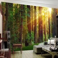 Natuur Behang Slaapkamer Eenvoudig Sunshine Oorsprong Groene Bos