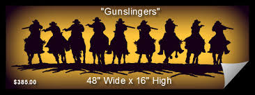 cowboy silhouette wall art