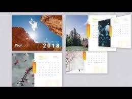 Calender Design Template Calendar 2018 Template Youtube