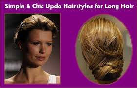simple chic updo hairstyles for long hair hairstyles easy hairstyles for s
