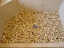 pebble tile shower floor pebble shower floors for tiled showers how to install small rocks tile