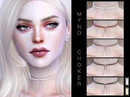 The Sims Resource – Mynd Choker by Praline Sims for The Sims 4 | Sims 4,  Sims, Sims 4 piercings