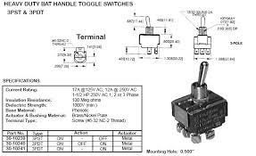 switches toggle  3pdt on off on 17amp heavy duty toggle switch