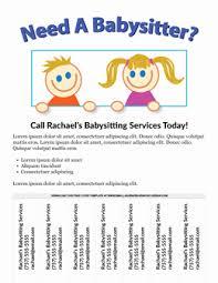 babysitting schedule template babysitter flyer template microsoft word beautiful fold school