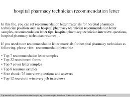 hospital pharmacy technician re mendation letter 1 638 cb=