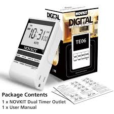 Dual Light Timer Programmable Digital Plug In Light Timer Switch With Dual