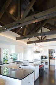 cathedral ceiling lighting ideas. Track Lighting Ideas Kitchen Contemporary With Cathedral Ceiling Dark Stained. Image By: Hyde Evans Design E