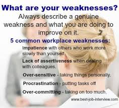 Weaknesses For Interview Examples Interview Questions Weaknesses Examples Of Weaknesses