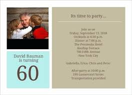 60th Birthday Party Invitation Template Meetwithlisa Info