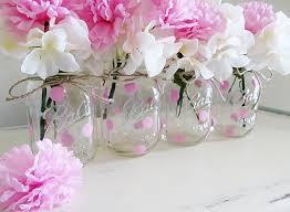 Decorating Mason Jars For Baby Shower Pink Polka Dot Mason Jar Centerpieces Baby Shower Mason Jars 42