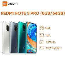 Mã ELMALLCOIN hoàn 8% xu đơn 499K] Điện Thoại Xiaomi Redmi Note 9 Pro  6GB/64GB - Hàng Chính Hãng