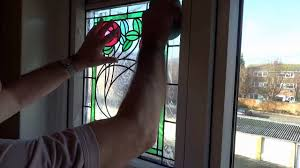 applying ls of london stained glass window to your window you