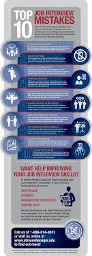 Careers Interview Questions Top 10 Job Interview Mistakes Infographic College Pinterest