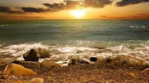 Beach Sunset HD Wallpaper