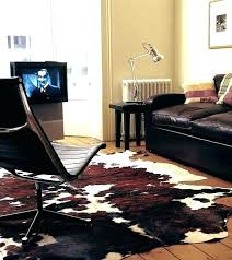 raw hide rug rawhide faux animal rugs astound zebra cowhide home interior black and white speckled