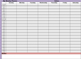 hourly agenda weekly hourly schedule template excel agenda hour