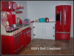 Dollhouse Kitchen Furniture Gigis Doll And Craft Creations American Girl Doll Kitchen And