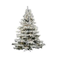 Vickerman 3-ft Pre-lit Alaskan Pine Flocked Artificial Christmas Tree with  100 Constant