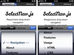 Mobile Never Use Native Drop Downs For Navigation
